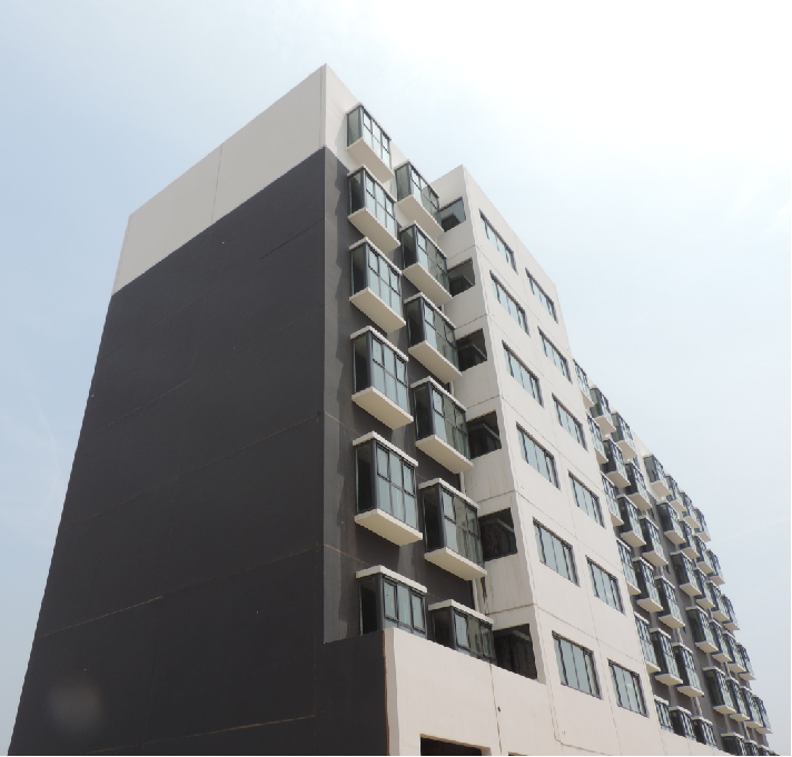 建成后的魏县户村易地扶贫搬迁项目1#楼